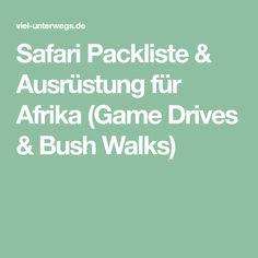 Safari Packliste & Ausrüstung für Afrika (Game Drives & Bush Walks)