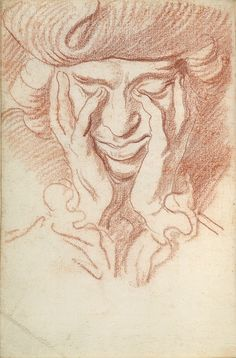 Self-Portrait, about 1730, Edme Bouchardon, Red chalk. The Morgan Library & Museum, Purchased in 1907.