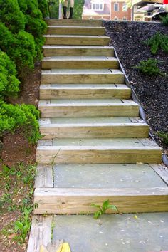 When we moved into our home two years ago we knew we needed to fix the stairs and walkway that came off the driveway to the back patio of the house. The stairs…(Diy Garden Stairs) Outdoor Walkway, Outdoor Steps, Outdoor Decor, Outdoor Living, Paver Walkway, Patio Stairs, Garden Stairs, Stepping Stone Walkways, Landscape Stairs
