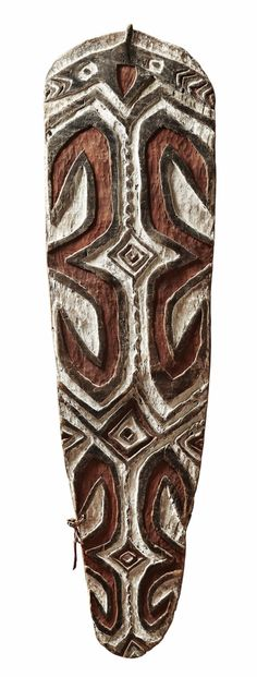 Probably Auyu, Papua, IndonesiaA PAPUA SHIELD, Auction 1054 African and Oceanic Art, Lot 141