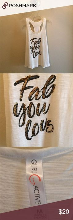 Racerback tank A FABULOUS sequined tank! Wear it with leggings or jeans and you have a chic outfit!  Smoke free home Tops Tank Tops