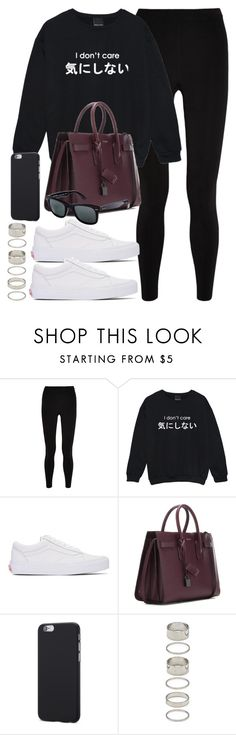 """""""Style #11365"""" by vany-alvarado ❤ liked on Polyvore featuring T By Alexander Wang, Vans, Yves Saint Laurent, Ray-Ban and Forever 21"""