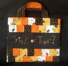 No quilter would send her little witches and ghosts out to trick or treat with old pillowcases or paper bags! Instead follow this Patchwork Trick or Treat Bag tutorial to make Halloween bags with easy piecework and a festive embroidered message!