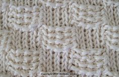Tunisian Crochet - Basket Weave Stitch Pattern