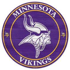 Minnesota Vikings Wooden Sign - sports theme decor idea