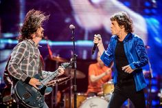Dave Grohl and Mic Jagger...epic