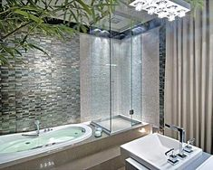 Metallic tiles and the half shower cubicle catch the eye! House Design, Citrus Bathroom, Shower Cubicles, Homey, Metal Tile, Diy Home Decor, Home Decor, Toilet Design, Renters Decorating