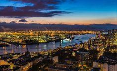 Hamburg, Nacht, Elbe