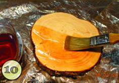 """Stabilizing a Cross-Cut Section of Wood with Pentacryl Wood cross-cut sections or """"cookies"""" are a popular cut of wood to work with. They are also the most challenging to stabilize, as this type of cut has the highest tension in it. The wood will tend to crack from the outside edge as the tension increases … Outdoor Projects, Wood Projects, Projects To Try, Craft Projects, Tree Slices, Wood Slices, Wood Crosses, Wood Slab, Wood Wood"""
