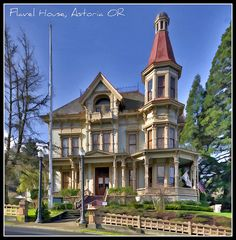 Our inspiration for the Becker house - the historic Flavel House in Astoria OR.  To the right is where our Val meets the revenant Julia at the gate between the living and the dead.