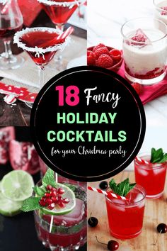 18 Fancy Christmas Cocktail Recipes For Your Holiday Party These Christmas cocktail recipes are great to be served at any Christmas party this year! Check out these Christmas cocktails for this holiday - Fresh Drinks Halloween Cocktails, Festive Cocktails, Christmas Cocktails, Holiday Cocktails, Christmas Desserts, Holiday Parties, Christmas Christmas, Xmas Party, Christmas Recipes