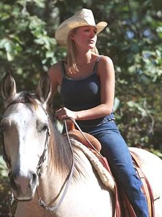 Two beautiful Jewels,  growing up in Alaska Jewel had a horse named Clearwater ...she continues to ride on her horse farm in Dallas, TX.