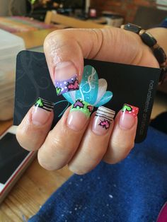 Nails art, acrylic nails, cute nails