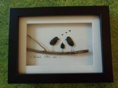 Pebble Art 'Welcome little one' by leeleefallsalot on Etsy