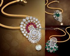Jewellery Designs: Diamond Pendants by Shobha Asar
