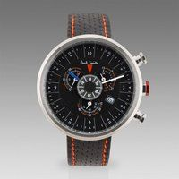 Black Cycle Eyes Chronograph Watch by Paul Smith
