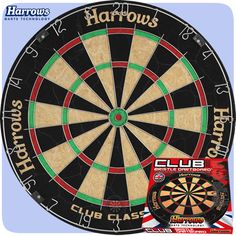 Dartboards - Harrows - Entry Level - Club Classic - Bristle Dartboard - http://www.dartscorner.co.uk/product_info.php?cPath=342_1079&products_id=67826