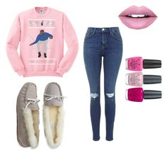 """""""We wear pink on wensdays"""" by shamelesslymaya on Polyvore featuring Aéropostale, Fiebiger and OPI"""