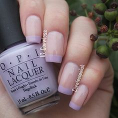 50 Gorgeous Summer Nail Designs You Need To Try - French Tip Nail Designs, French Tip Nails, Colored Nail Tips French, Purple French Manicure, French Tips, Cute Nails, Pretty Nails, Lilac Nails, Purple Tips