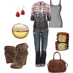 Rustic cuteness, created by leah-strid on Polyvore