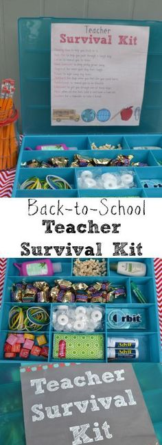 This Back to school teacher survival kit is such a great idea. Our teachers LOVED it!