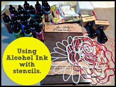 Using StencilGirl stencils with Alcohol Ink by Maria McGuire.