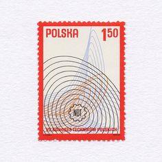 7th Congress of Polish Engineers (1,50). Poland, 1977. Design: Karol Śliwka. #mnh #graphilately