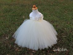 Ivory Flower Girl Dress Simply Ivory Flower Girl Tutu by Gurliglam