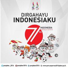 Dirgahayu Indonesia! Semoga semakin baik di segala bidang dan banyak lahir atlet baru berprestasi. #RI71#ponpeparnasjabar2016 #jadijuara