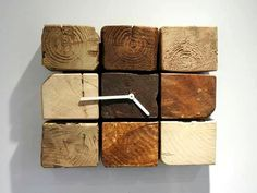 cute pallet cube wall clock