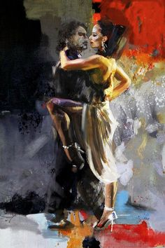 Tango Dancers, Ballet Dancers, Tango Art, Romantic Dance, Dance Paintings, Abstract Painters, Freelance Graphic Design, Art Music, New Art