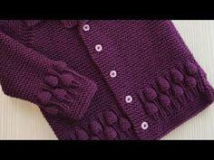 Grapes Border Design in Hindi/Best Knitting Tutorial of 2018 Baby Knitting Patterns, Knitting Designs, Knitting Projects, Crochet Patterns, Crochet Baby, Knit Crochet, Knitting Help, Youtuber, Sweater Design