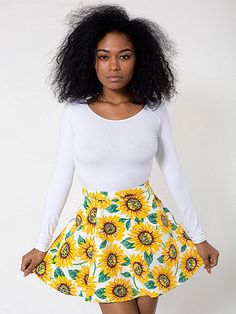 #store.americanapparel.ca #Skirt                    #American #Apparel #Sunflower #Print #Stretch #Bull #Denim #Circle #Skirt     American Apparel - Sunflower Print Stretch Bull Denim Circle Skirt                                      http://www.seapai.com/product.aspx?PID=716846