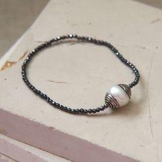 Gloomy Day Bracelet / Mother of Pearl with by sweetlittledoor