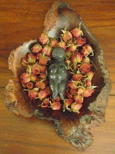 Green Goddess Emporium- Black hand made Goddess of Willendorf purchased mid 90's Brisbane.