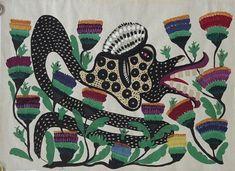 Serpent, 1959 by Maria Primachenko. Naïve Art (Primitivism). animal painting