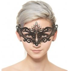 Unique Laser Cut Mardi Gras Masquerade Mask -Made with eco-friendly metal material. -Laser Cut -Beautiful Rhinestones design.  -One size fits most. -Perfect for masquerade balls, weddings, proms, parties, dances, music festivals, raves, Mardi Gras, etc. BC005 Jewelry