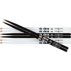 Vic Firth 5A Drum Sticks (Black and White)