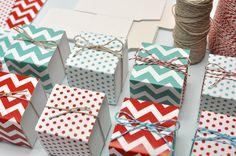 DIY party favor boxes