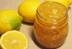 Lemon marmalade recipe of three ingredients Lemon Marmalade, Marmalade Recipe, Lemond Curd, Vegetarian Recipes Easy, Pickles, Cantaloupe, Food To Make, Salsa, Food And Drink