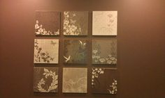 Scrapbook paper modge podged onto canvases = cheap wall art and you literally have millions of options