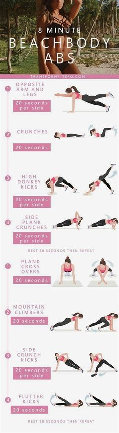 Bikini AbsThis quick bikini abs blast circuit is designed to tighten your core and get you looking amazing for #FitnessMotivation