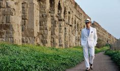 "Film director, Paolo Sorrentino's ""La Grande Bellezza (The Great Beauty)"", a nostalgic, melancholic ode to the eternal city of Rome, is in the official David Downton, High Society, Grand Tour, Vendetta, Beauty Movie, Rome Tours, 10 Film, Style Masculin, Learning Italian"