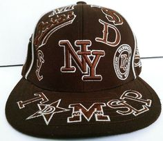 d41d2c1f6ca City Hunter USA States Embroided Fitted Size 7 Baseball Cap Hat  7   AllMLBTeams