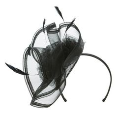 Women's Nordstrom Border Fascinator Headband ($39) ❤ liked on Polyvore featuring accessories, hair accessories, black combo, satin headbands, headband hair accessories, hair band accessories, fascinator headband and feather hair accessories