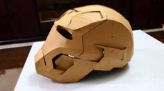 Iron Man Mark 42 Helmet Cardboard DIY #2 - Glue gun, jaw, top, back & ears