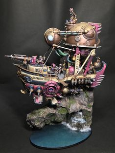 Warhammer Age of Sigmar | Kharadron Overolords | Ironclad by Pla_Shiba http://wellofeternitypl.blogspot.com #warhammer #ageofsigmar #aos #sigmar #wh #whfb #gw #gamesworkshop #wellofeternity #miniatures #wargaming #hobby #fantasy