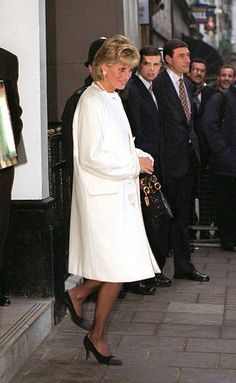2,394 Princess Diana White Photos and Premium High Res Pictures Princess Diana Images, Princess Diana Fashion, Liverpool Cathedral, Versace Coat, Kate And Meghan, Diane, Lady Diana Spencer, White Dress, Daughter