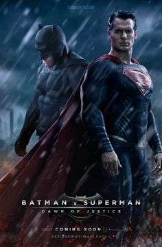 Batman Vs Superman Dawn Of Justice Poster Wallpaper