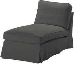 Buy The Dense Cotton Ikea Ektorp Chaise Cover Replacement Is Custom Made For Ikea Ektorp Chaise Lounge Cover. A Sofa Slipcover Replacement (Durable Cotton Dark Gray) Grey Home Decor, Home Decor Furniture, Furniture Design, Ikea Ektorp Cover, Custom Slipcovers, Sofa Slipcovers, Chaise Sofa, Chaise Lounges, Diy House Projects